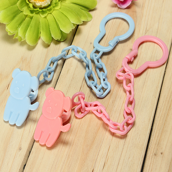 Baby Infant Pacifier Soother Chain Clip Holder Toy Gift