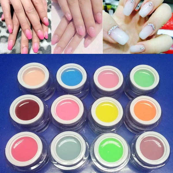 12 Colors Nail Art Jelly Extend UV Gel Varnish Extensio