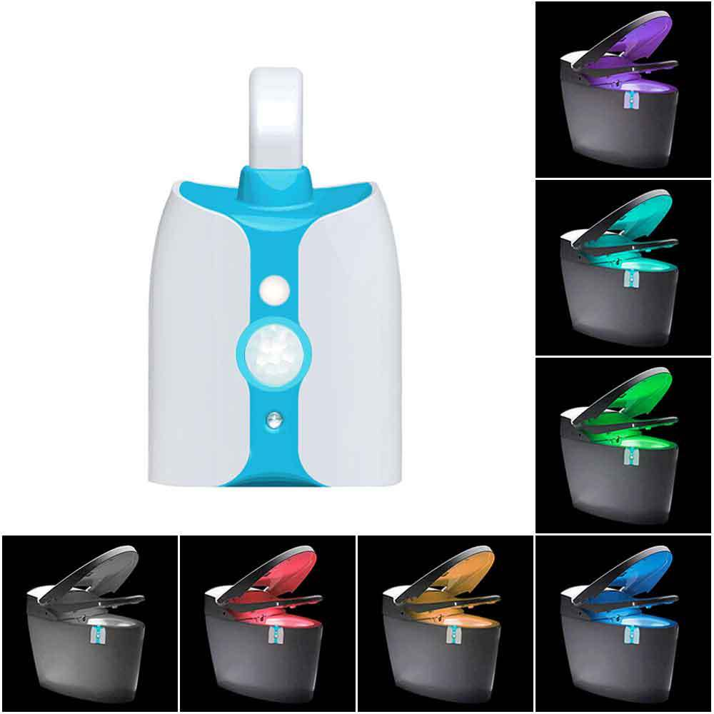 LED Toilet Light Sensor Motion Activated 8 Colors Chang