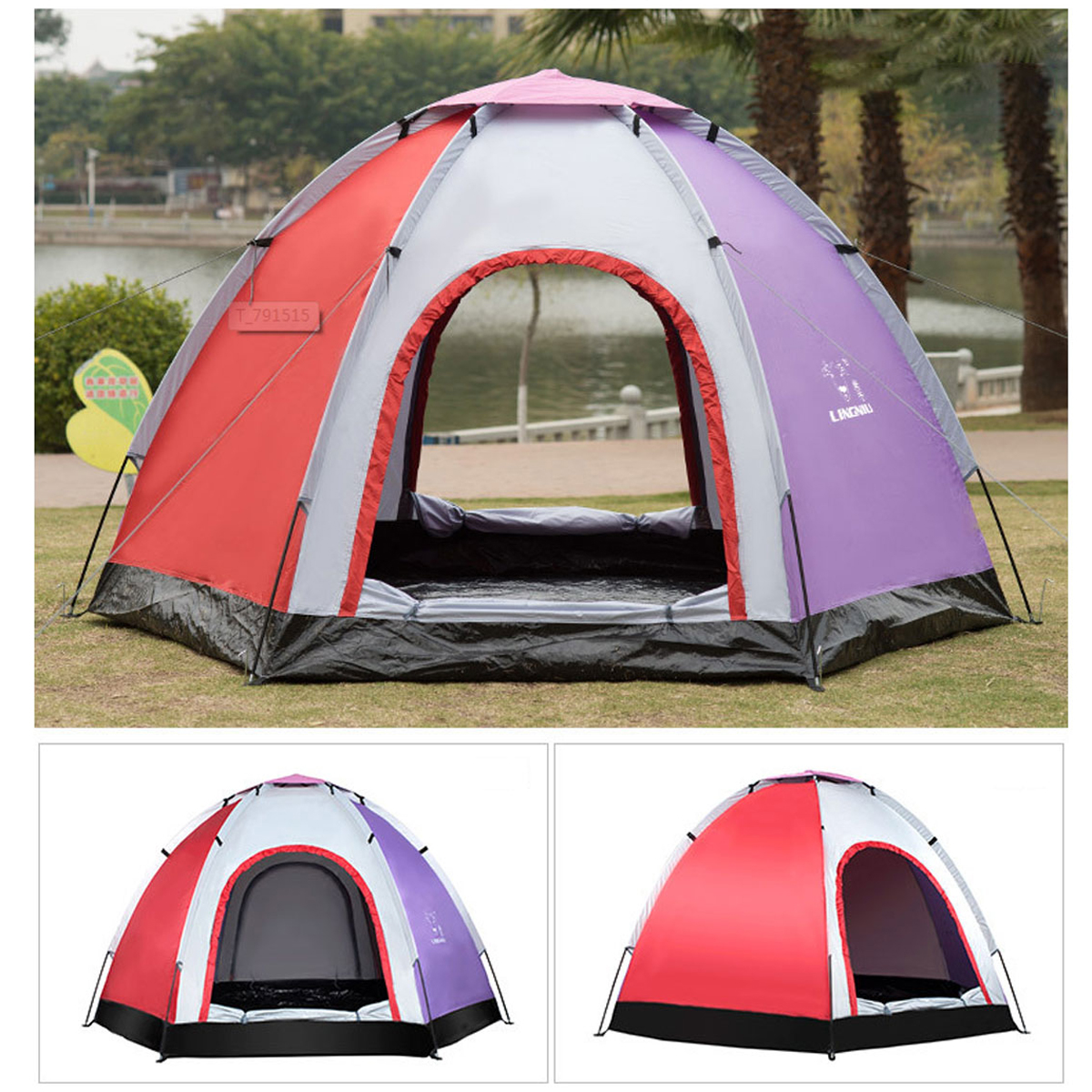 Outdoor 5-6 People Pop-Up Camping Tent Waterproof UV Pr