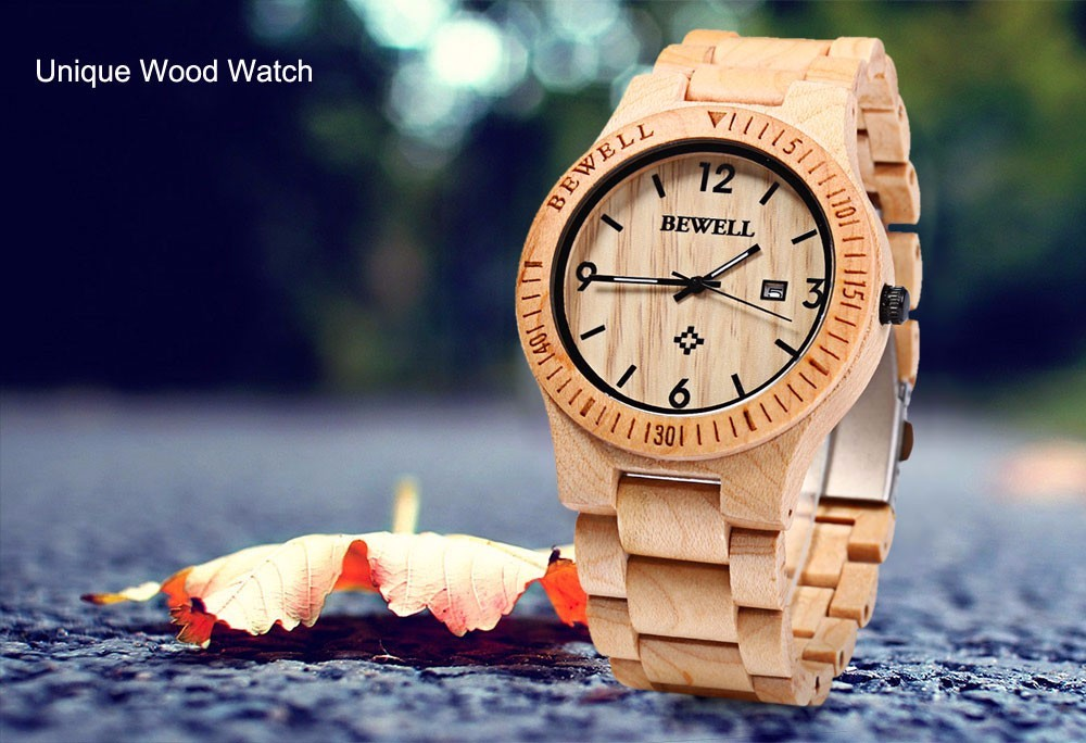 Bewell Wooden Vintage Watch