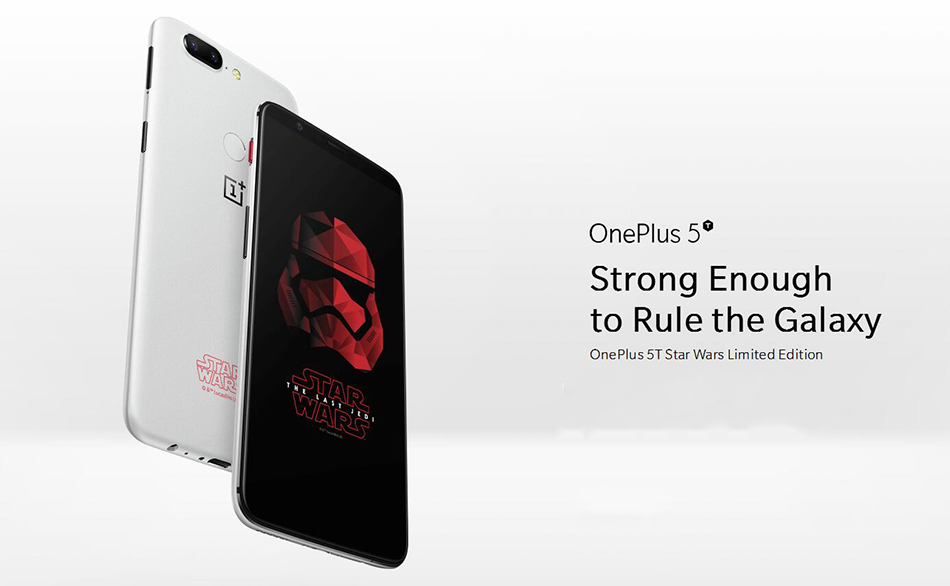 OnePlus 5T Star War Global Version 6.01 Inch 8GB RAM 128GB ROM Snapdragon 835 Octa Core 4G Téléphone intelligent