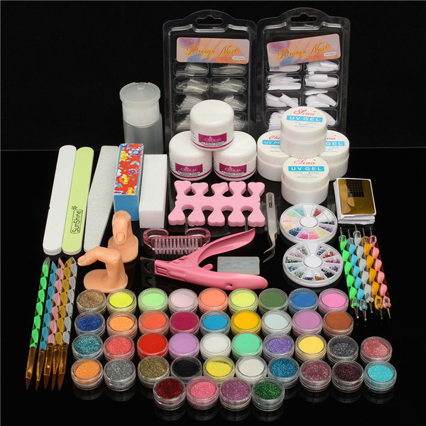 42 Colors Nail Art Set Manicure Kit Gel Polish Acrylic