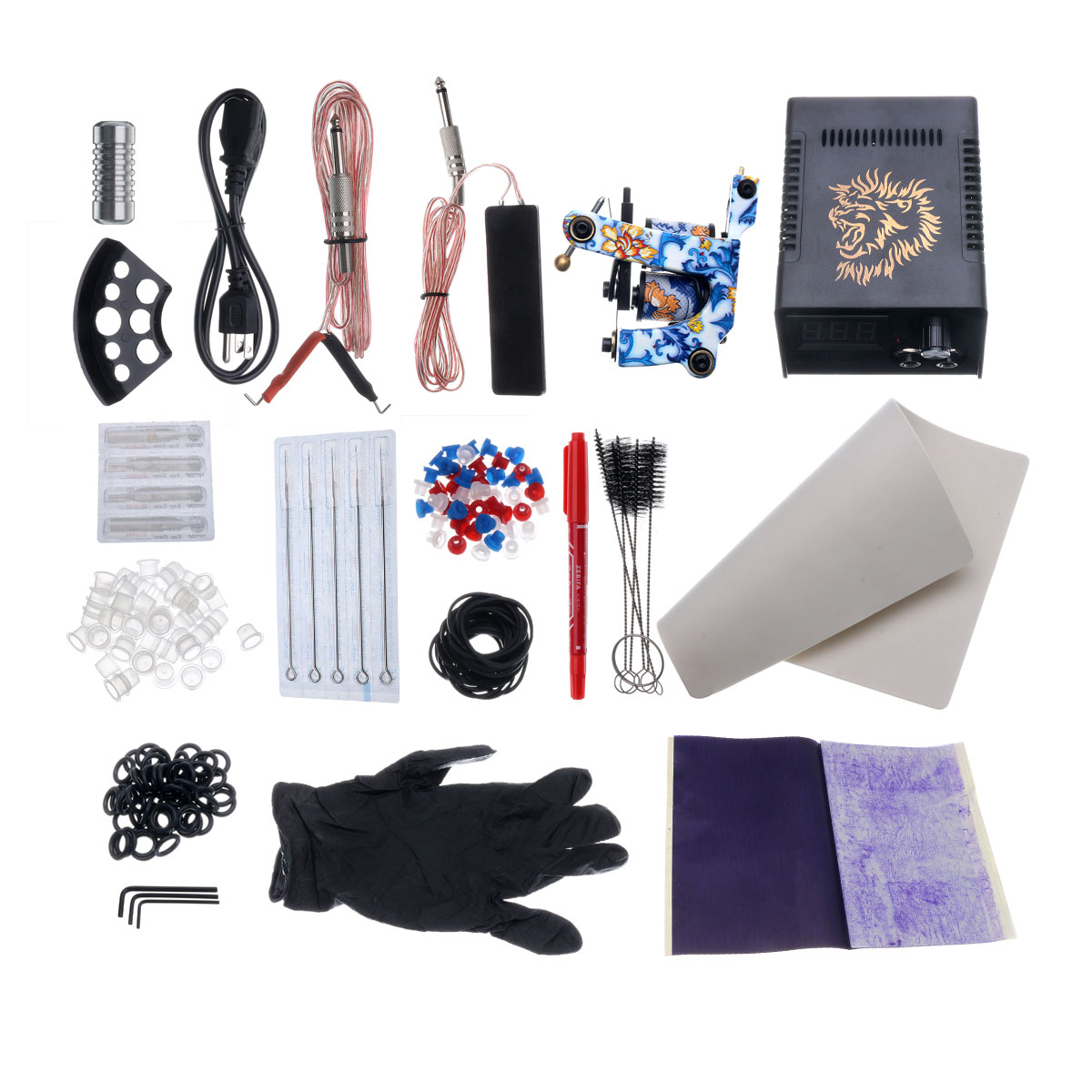 Professional Complete Tattoo Kit Pro Machine Set Tattoo