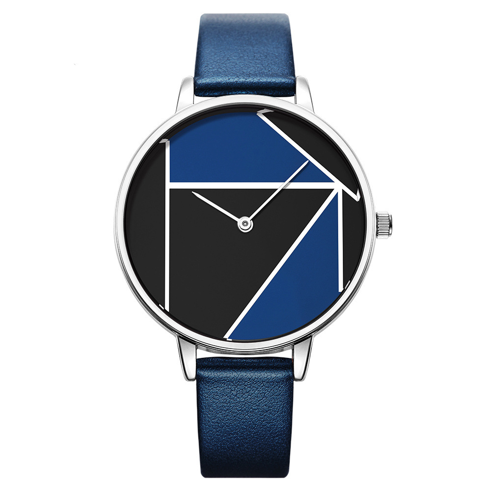 SK K0072 Simple Casual Leather Strap Quartz Watches Fas