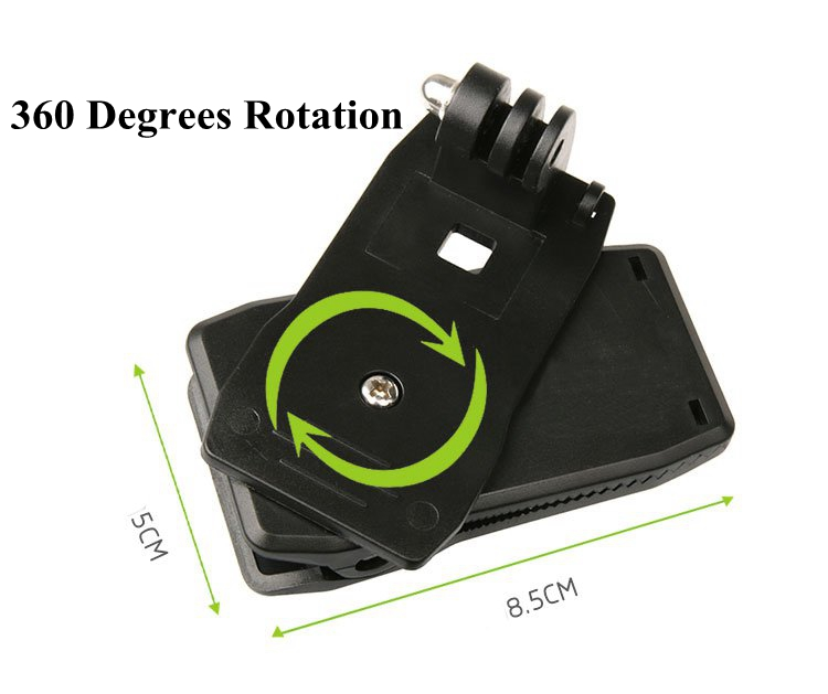 Backpack Bag Clip Clamp Mount 360 Degrees Rotary for Xiaomi Yi 2 II 4K Sports Action Camera