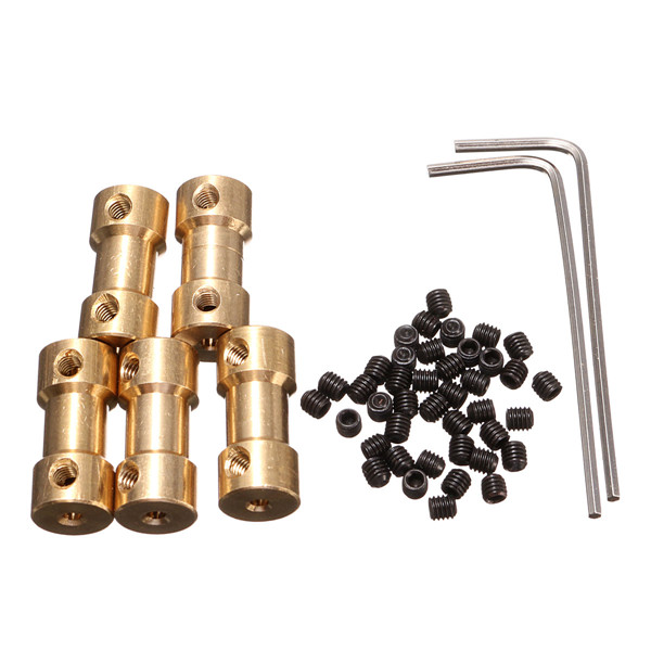 5pcs 9mm Brass Coupling Coupler with Spanner and Screw