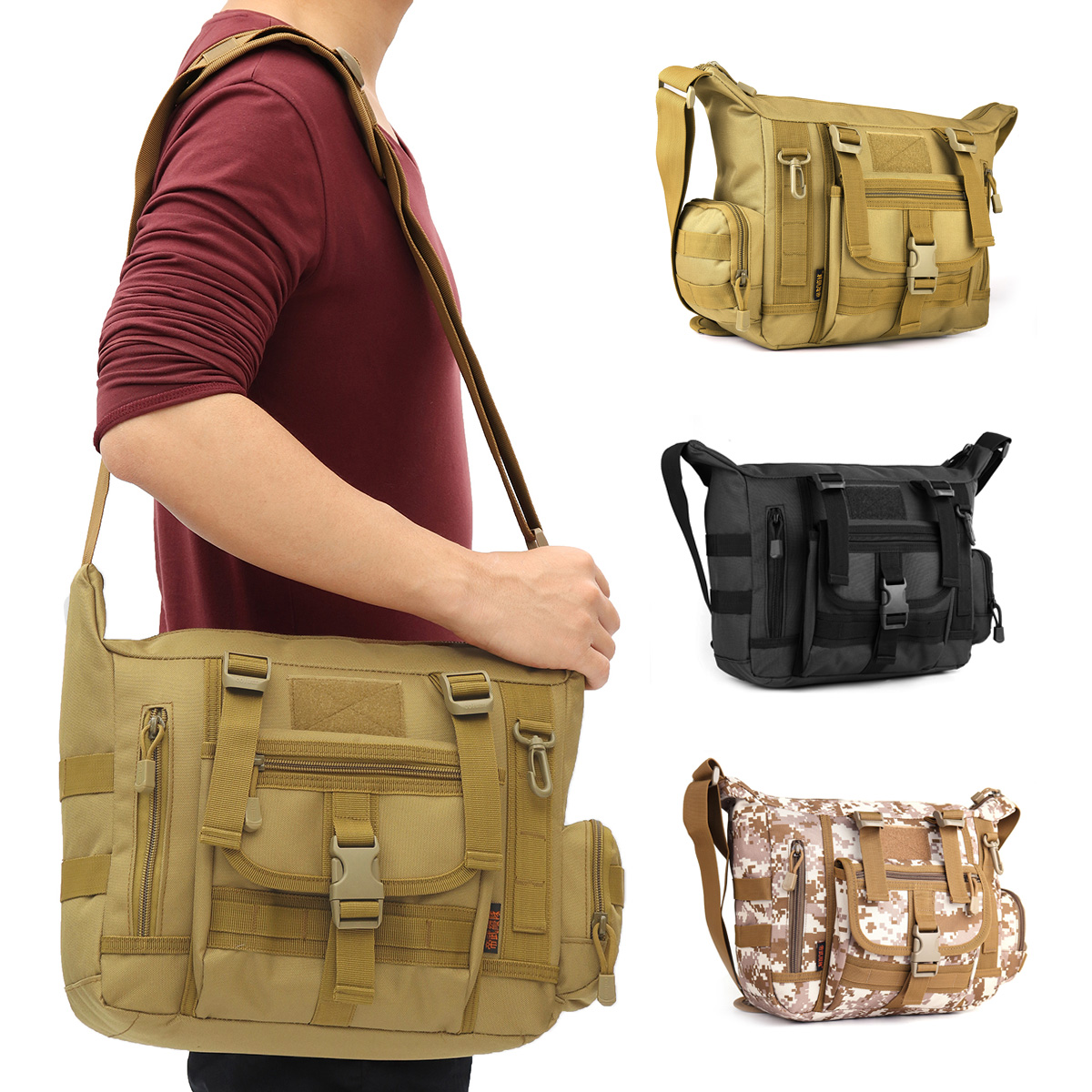 Outdoor Camping Tactical Military Briefcase Mens Messen