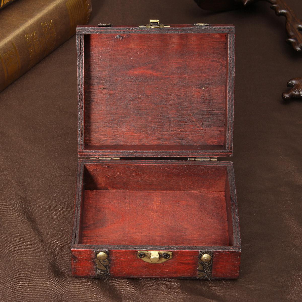 Vintage Retro Jewelry Necklace Bracelet Gift Box Case Holder