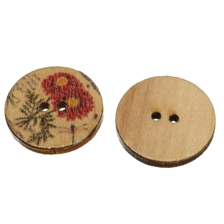 flower sewing button
