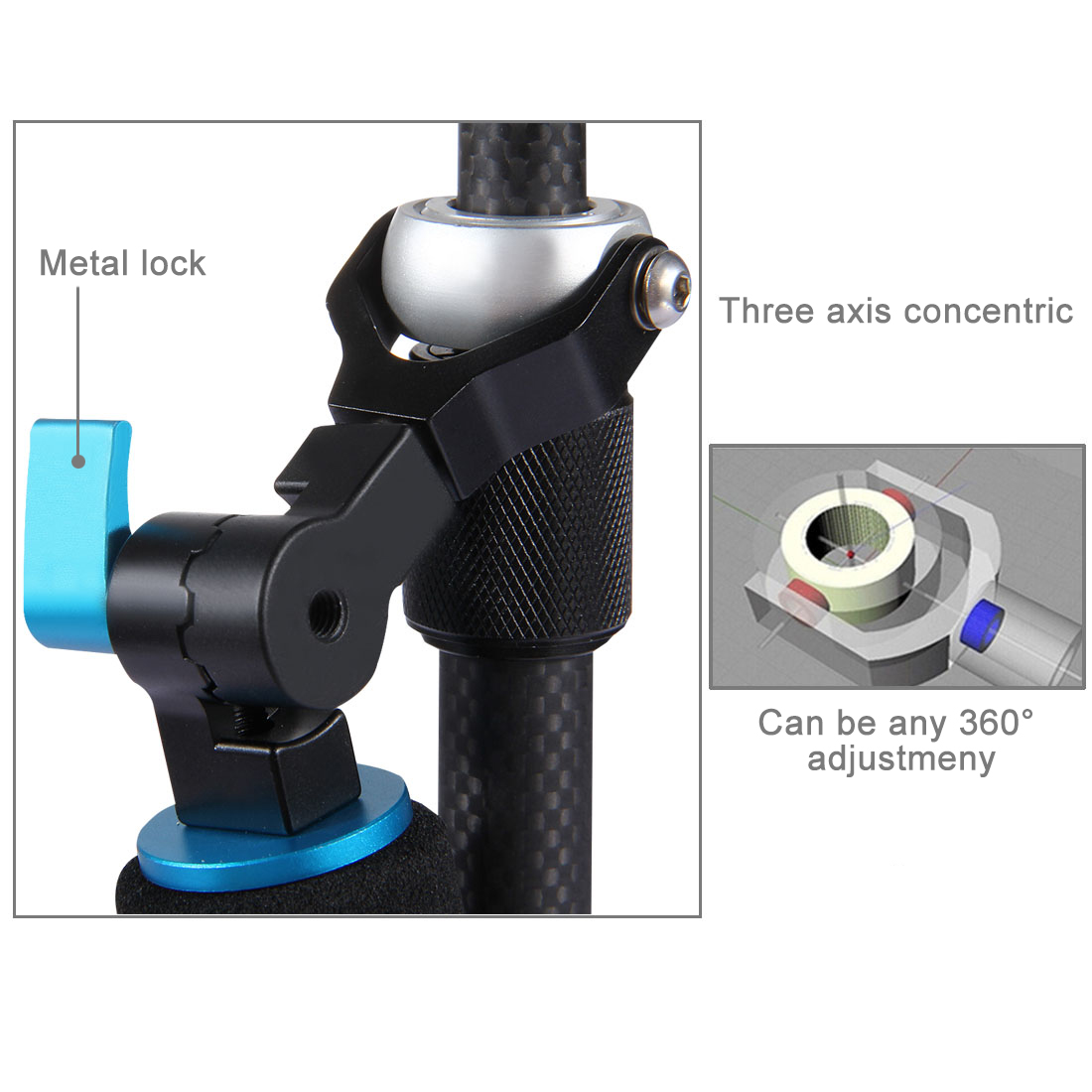 Description: 100% high quality and brand new handheld stabilizer Made of full new carbon fiber mate