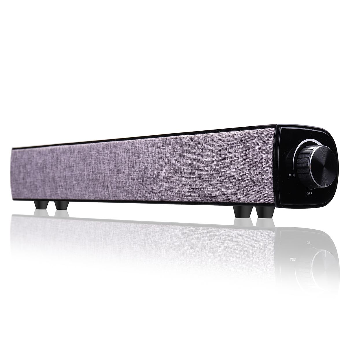 20W Wireless Bluetooth Soundbar HiFi Dual Units Speaker 4000mAh TV Home Theater