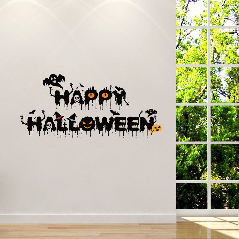 Horrible Hallowen Crow Glass Window Decor Wall Sticker Party House Home Decoration Creative Decal DI