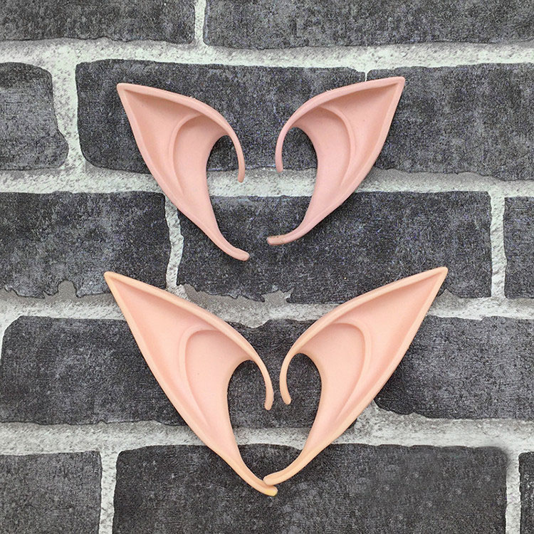 Mysterious Angel Elf Ears fairy Cosplay Accessories LARP Halloween Party Latex Soft Pointed Prosthet