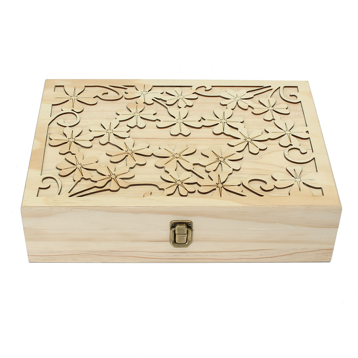 70 Slots Wooden Carved Case Container Essential Oils Bo