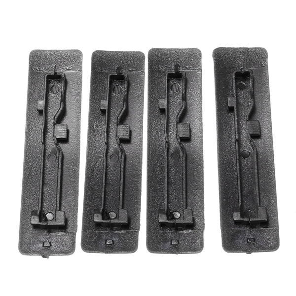 4 Pcs Roof Rail Clip Rack Moulding Cover Replacement Black for Mazda 2 3 5 6 CX7
