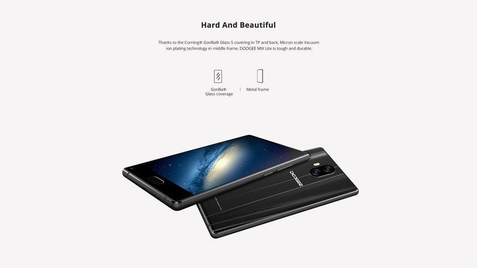 DOOGEE MIX Lite 5.2 Inch Android 7.0 2GB RAM 16GB ROM MTK6737 Quad-Core 1.5GHz 4G Smartphone