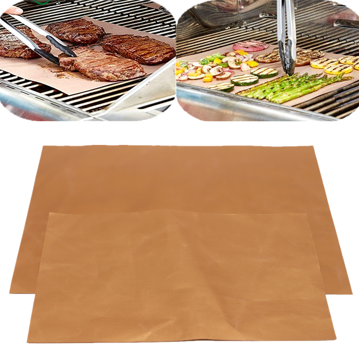 4Pcs Grill Mats BBQ And Bake Chef Non Stick Pad Camping