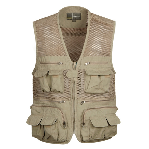 Multi Pockets Fishing Mesh Vest Hunting Vest Photograp
