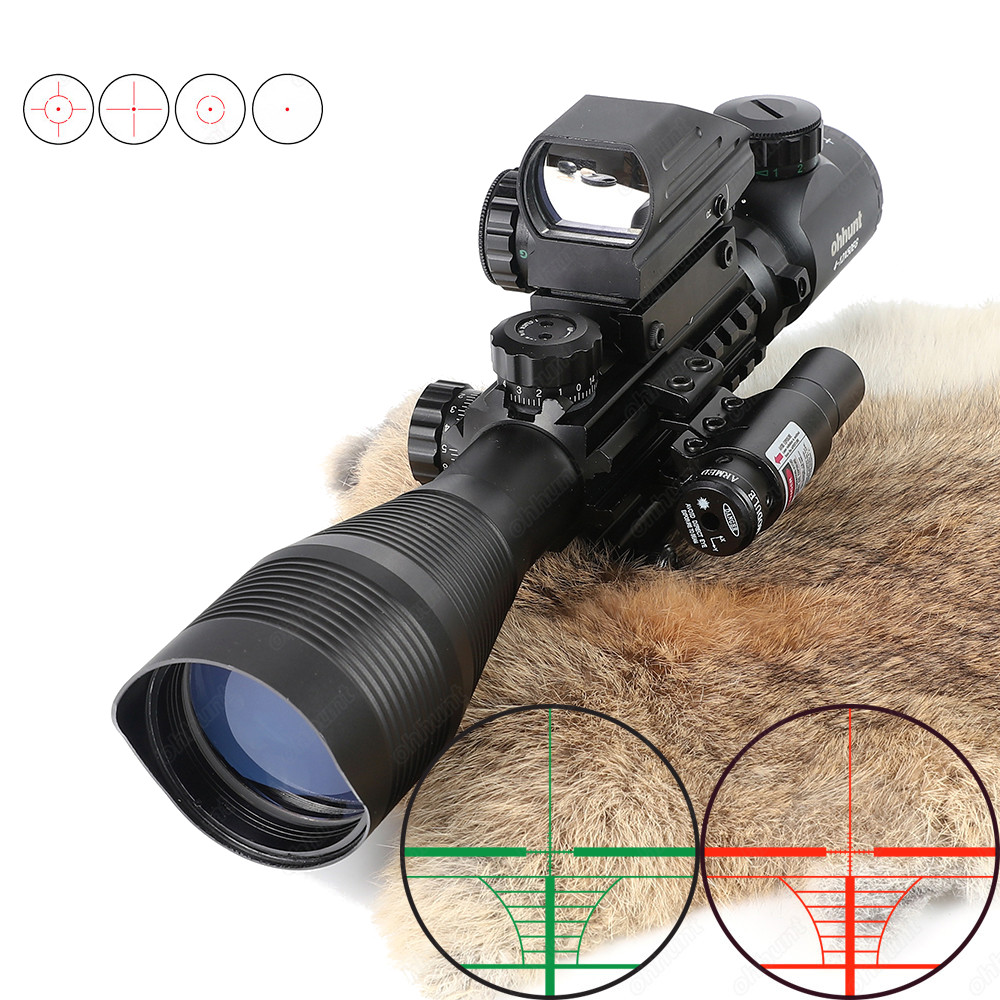 Ohhunt 4-12X50 Hunting Tactical Red Laser Sight Combo R