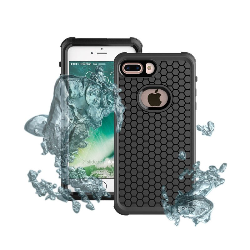 IP68 Waterproof Hybrid PC PET Case For iPhone 7 Plus/8