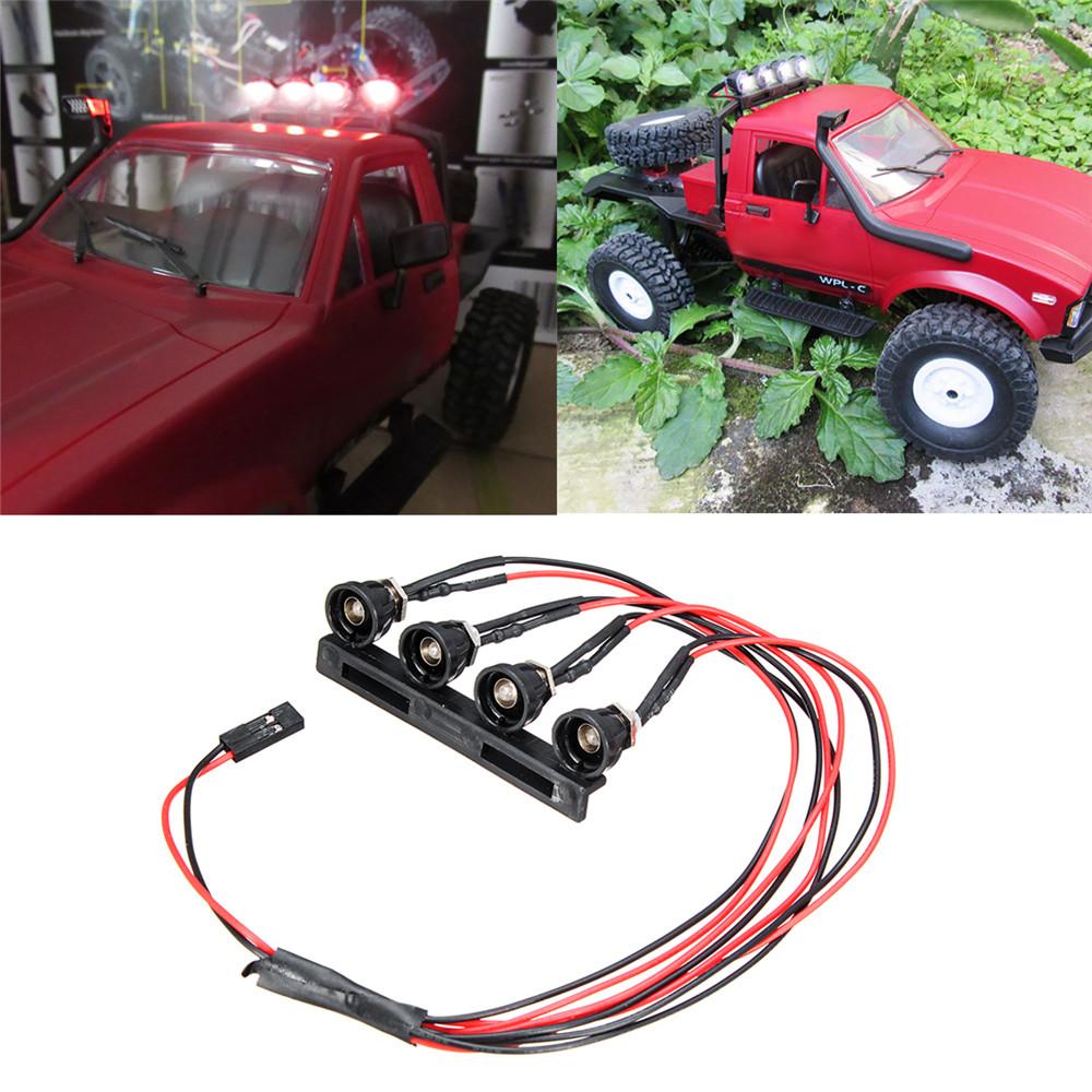 WPL C14 C24 1/16 2.4G Rc Car DIY Parts 4 White LED Ligh
