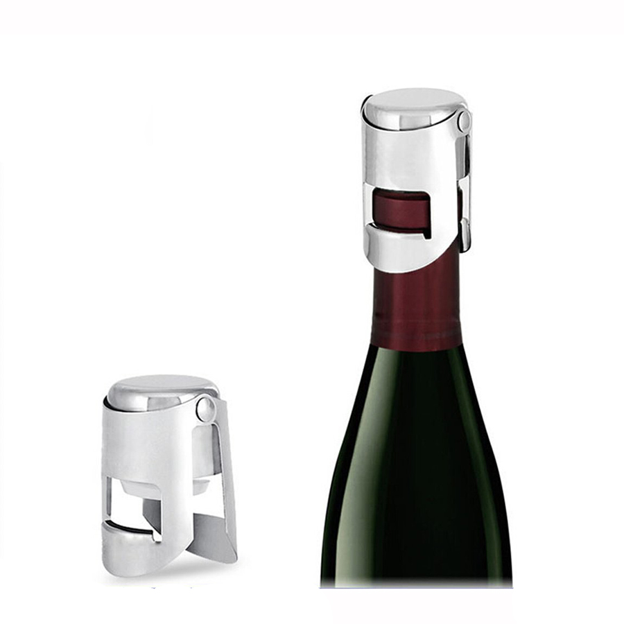 MIUK Stainless Steel Vacuum Champagne/Red Wine Sealer Bottle Stopper Solid Seal Kept Fresh
