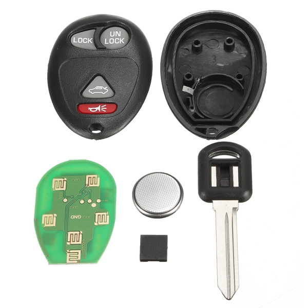 Car 315Hz Keyless Entry Remote Key Fob 4 Button Replacement for Buick Pontiac 2001-2005