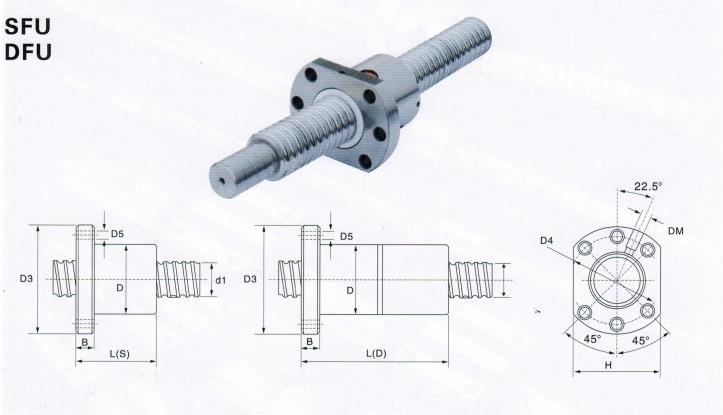 Machifit SFU1605 550mm Ball Screw with BK12 BF12 End Support and 6.35x10mm Coupler for CNC
