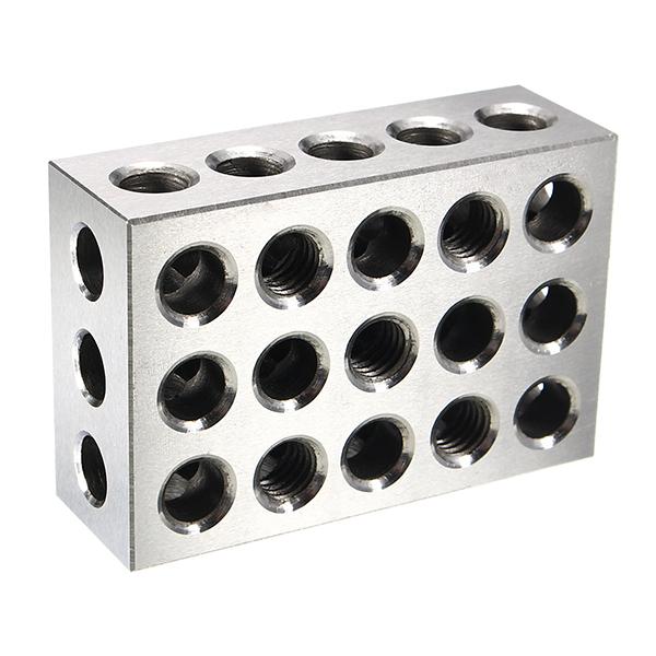 2pcs 25x50x75mm Blocks 23 Holes Parallel Clamping Block Milling Tool Precision 0.005mm