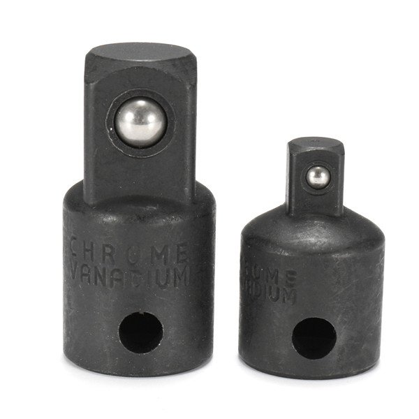 2pcs Air Impact Socket Adapter 3/8 to 1/4 and 1/4 to 3/8 Inch
