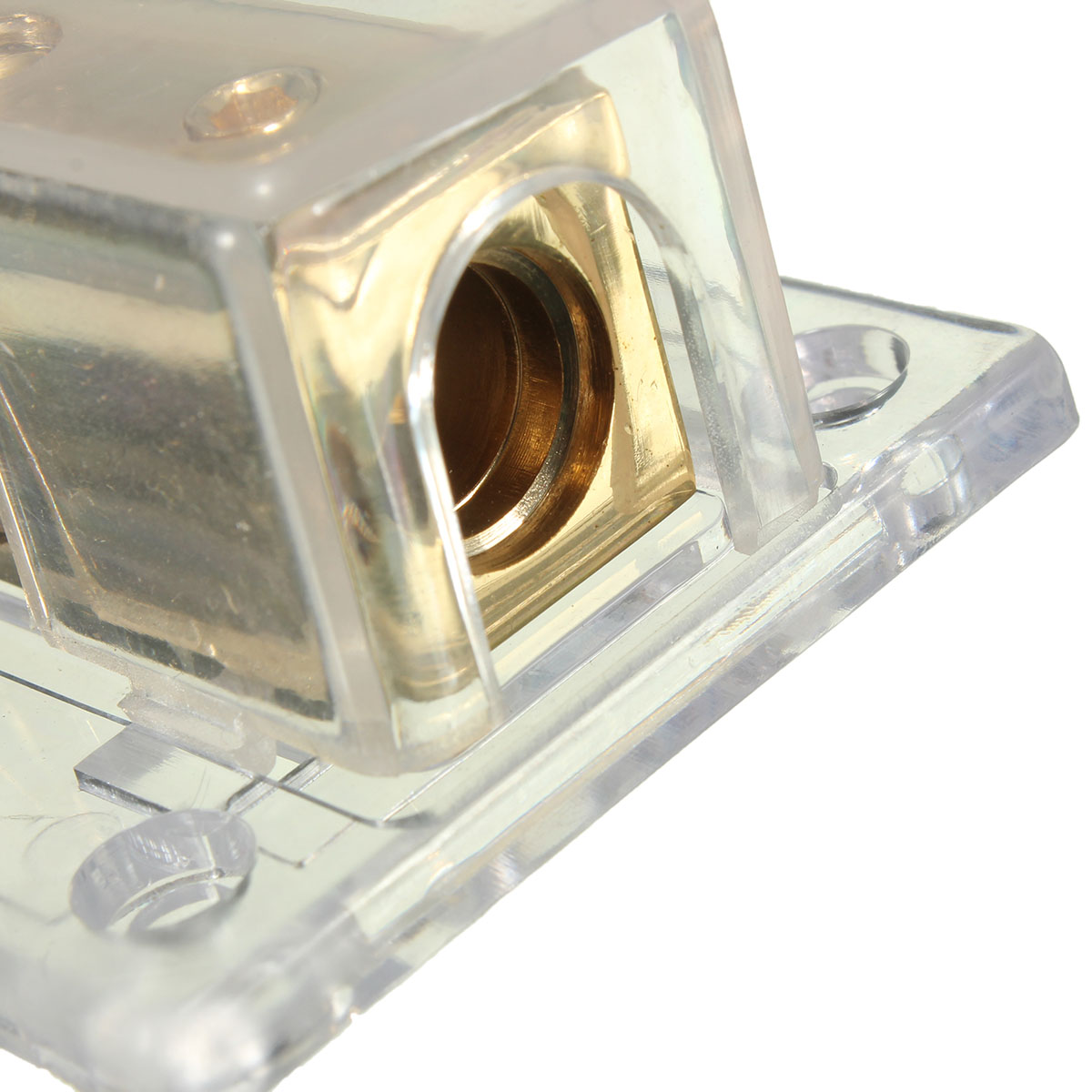 2-Way Solid Metal Power Distribution Block Splitter Gold-Plated For Cars Boats