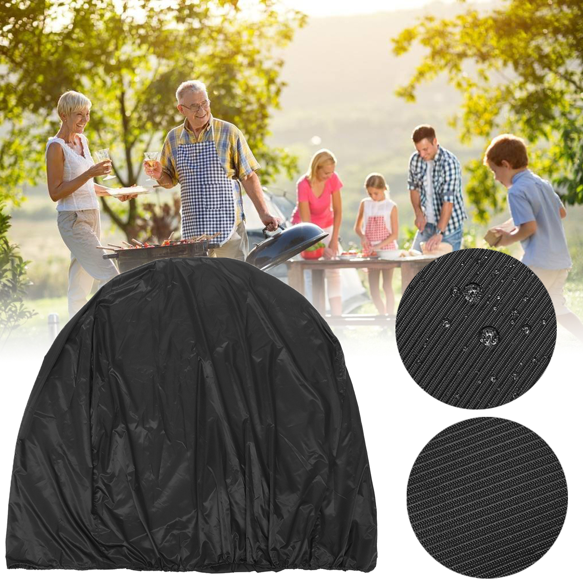 134x64.7x149.3cm BBQ Grill Cover Outdoor Camping Picnic