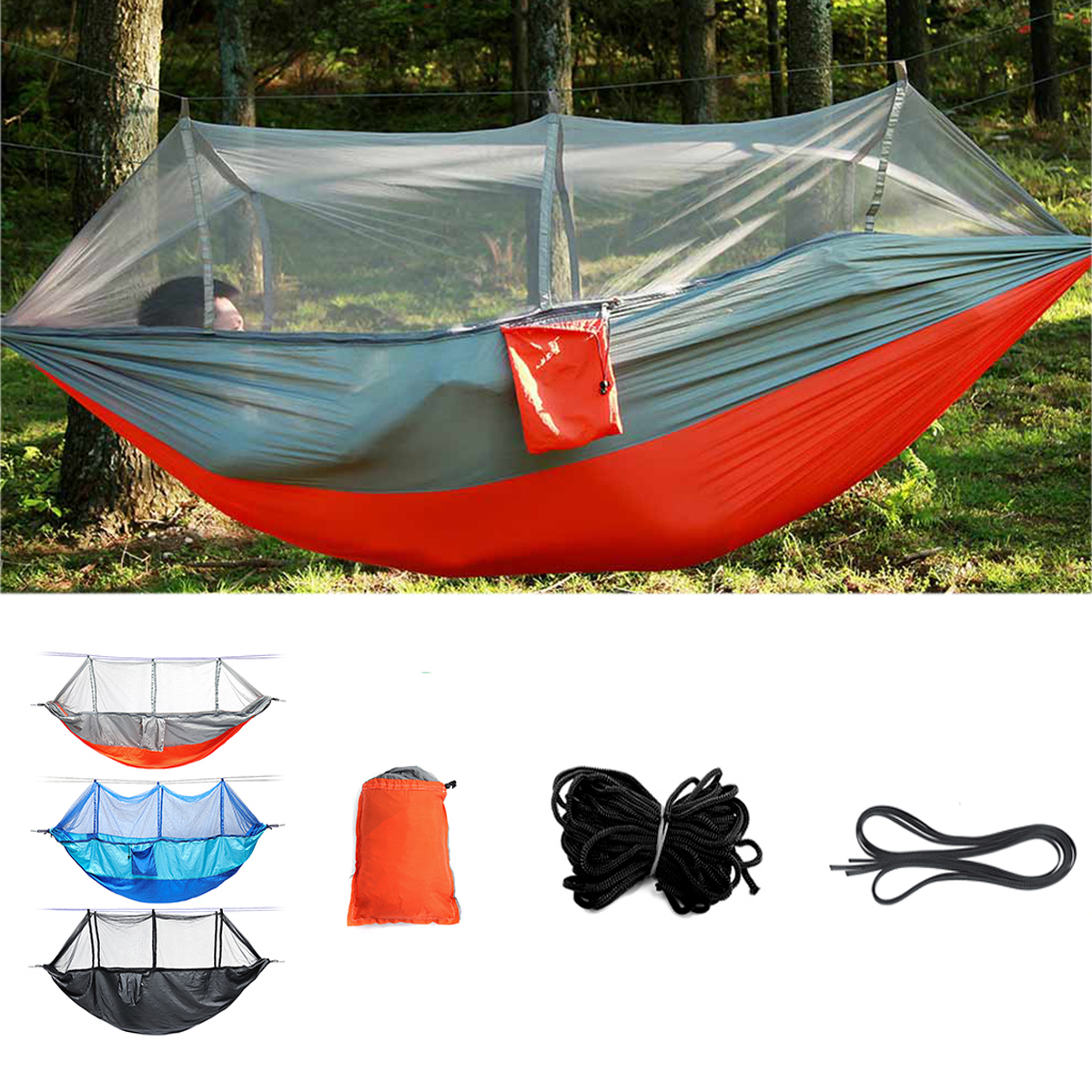 Outdoor Double 2 People Hammock Camping Tent Hanging Sw