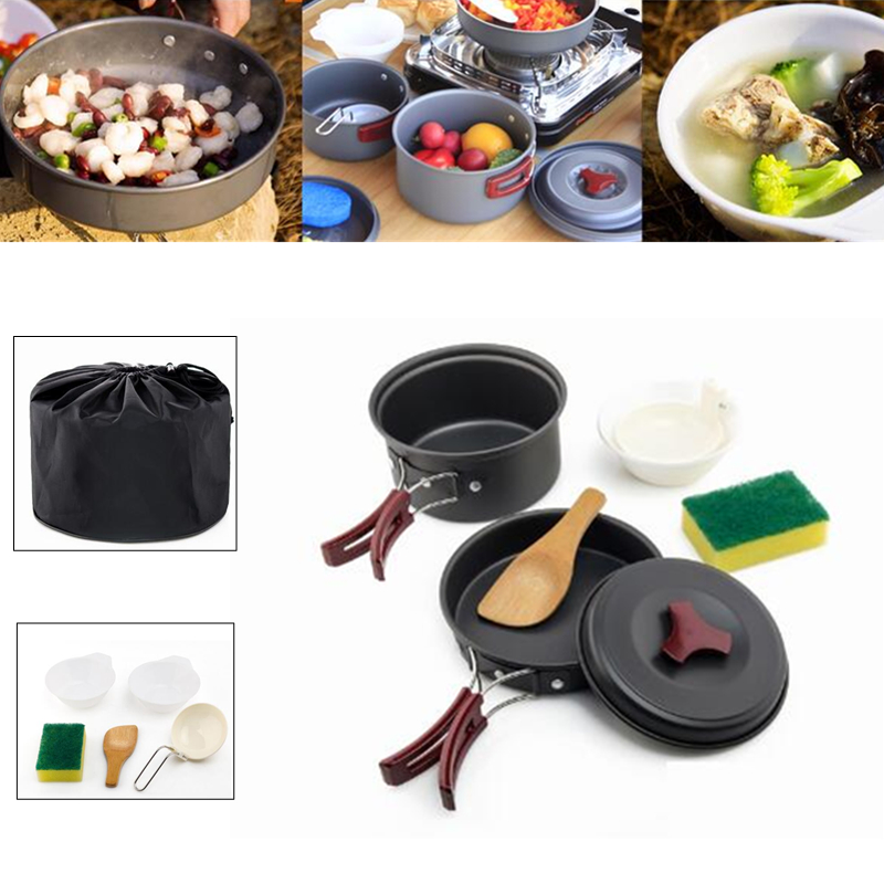 IPRee Outdoor 1-2 People Picnic Pots Travel Camping Set