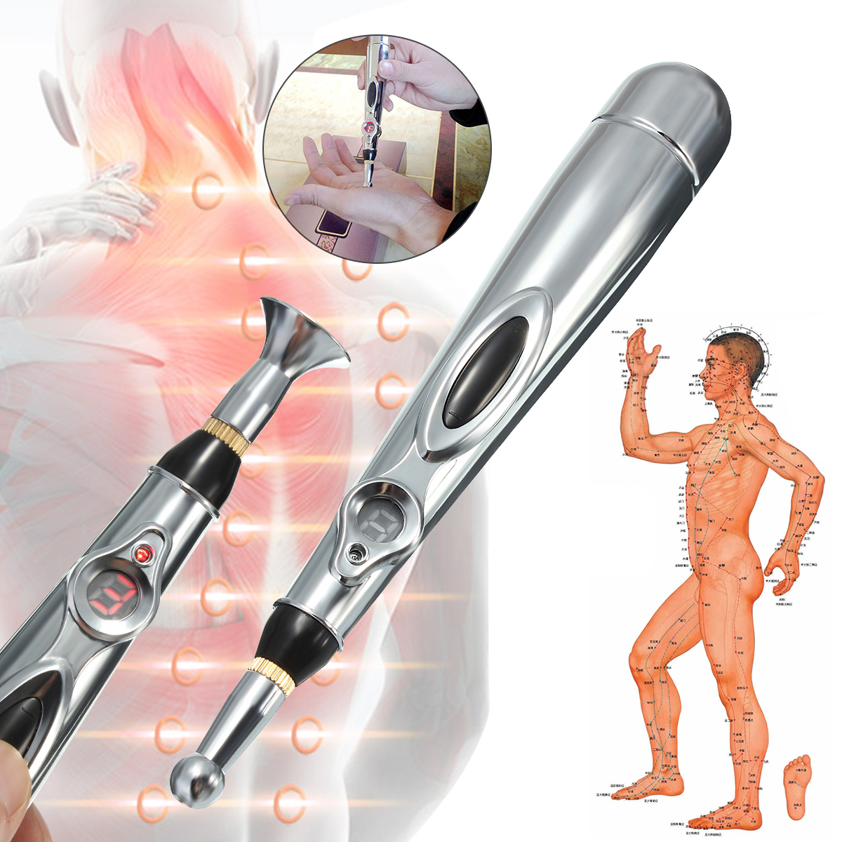 Portable Electric Massager Acupuncture Meridian Energy