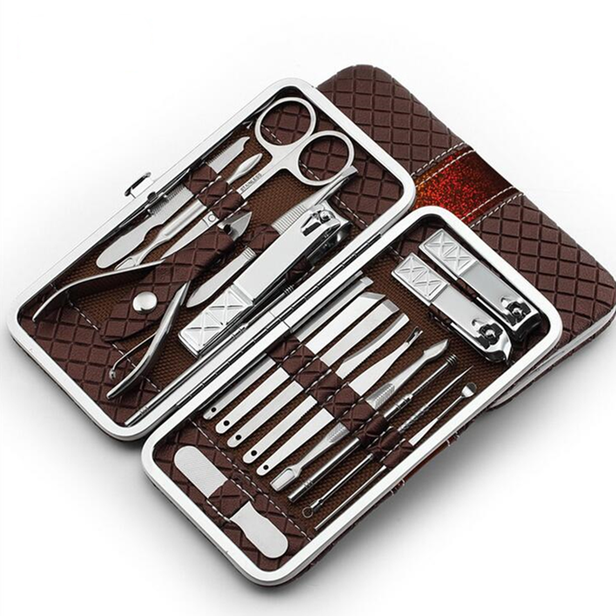 Y.F.M 18Pcs Stainless Steel Personal Manicure Set Pedic