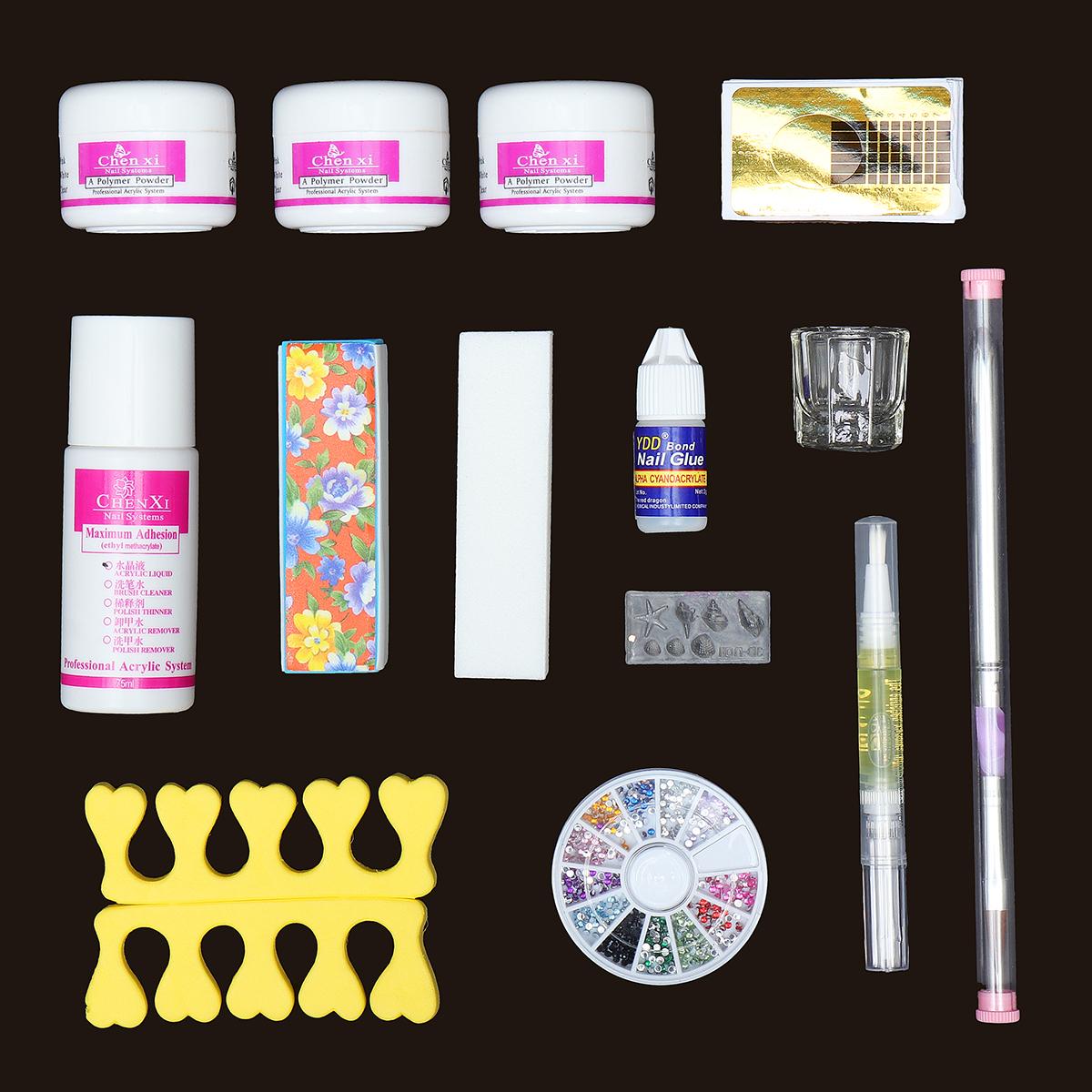 14 Acrylic Powder Nail Art Set False Nail Art Brushes D