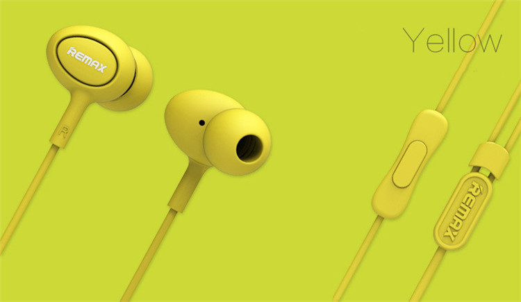 REMAX 515 Earphone Yellow