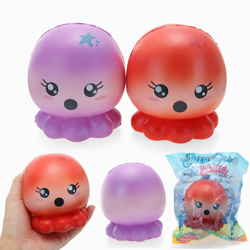 Cutie Creative Squishy Octopus 10cm Slow Rising Original Packaging Collection Gift Decor Toy