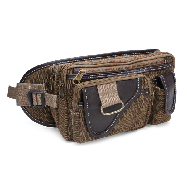 Men's Canvas Shoulder Bags Outdoor Sports Pockets Chest Pack