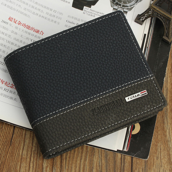 Mens Leather Bifold ID Card Holder Money Wallet Purse Clutch