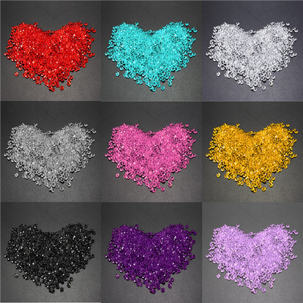 1000pcs 4.5mm Table Crystal Diamond Acrylic Crystals Diamonds Wedding Party Decoration