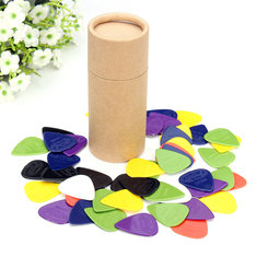 Celluloid 0.58/0.71/0.81/0.96/1.2/1.5mm 50pcs Colorful Guitar Picks