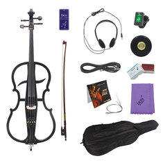 IRIN 4/4 M-02 Maple Wood Electric Cello with Cello Accessories