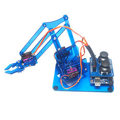 Mearm DIY 4DOF Arduino Robot Arm 4 Axis Rotating Kit With Joystick Button Controller 4pcs Servo