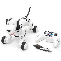 Black 2.4G RC Smart Dance Walking Remote Control Robot Dog Electronic Pet For Kid Toy
