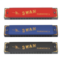 Swan SW16-2 C Key 16 Holes Harmonica Copper Board Diatonic Harp Woodwind Musical Instrument