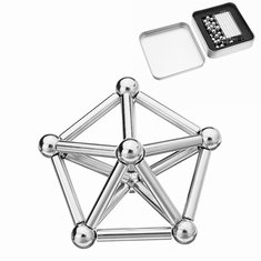 27PCs Buck Ball 36PCs Magnetic Toys Bar Intelligent Stress Reliever Silver Color With Box