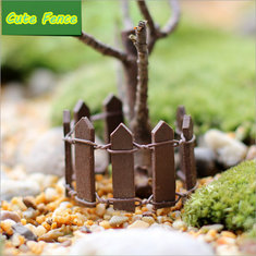 1PCS 94mm Wooden Fence Dollhouse Decoration Garden Ornament Plant Pots Decor